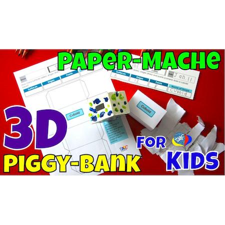 How To Paper-Mache 3D Piggy-Banks | Creative Art Kids