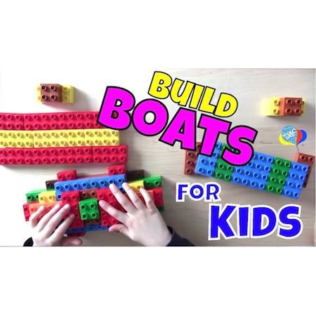 How To Build Boats For Kids With Lego DUPLO | Cool Math Kids