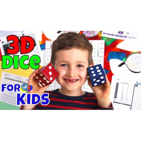 3D Dice | Paper-Mache 3D Shapes | Creative Art Kids