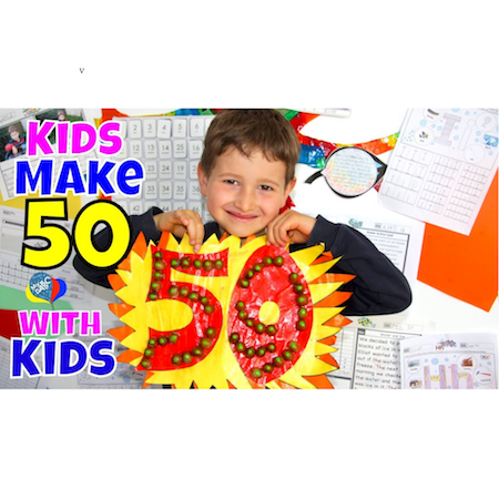 Kids Learn How To Make Number 50 With Kids