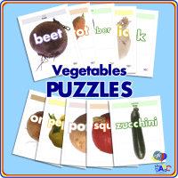 Vegetable PUZZLES for Kids