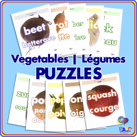 Vegetable | Légume PUZZLES for Kids
