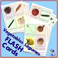 Vegetable | Légume FLASH Cards for Kids