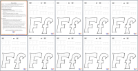 Printing And Drawing Letter F Download PREVIEW