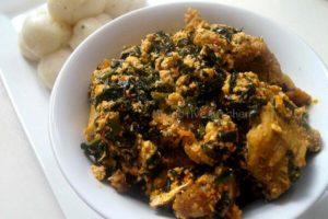 uwgu soup with pounded yam