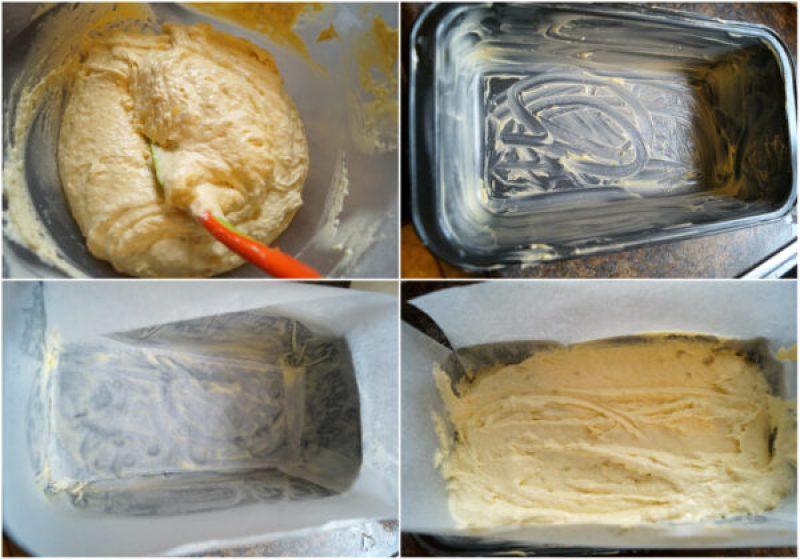 the process shot of making banana bread batter.