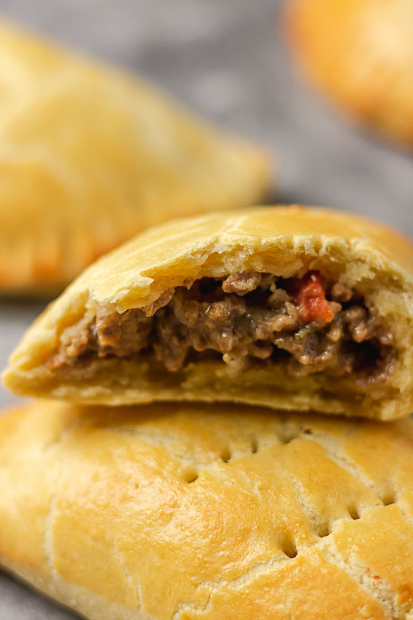 Nigerian meat pie with mince fillings