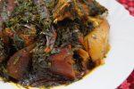 nigerian afang soup.