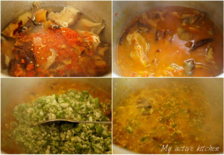 process shot of how to make ila alasepo