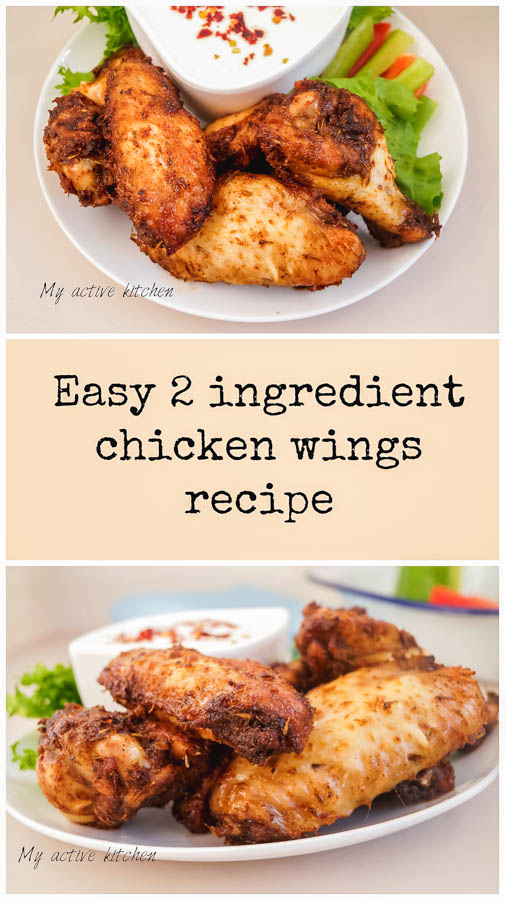 pinterest image of easy chicken wings