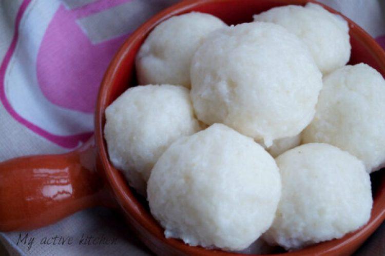 image of tuwo shinkafa made into balls.