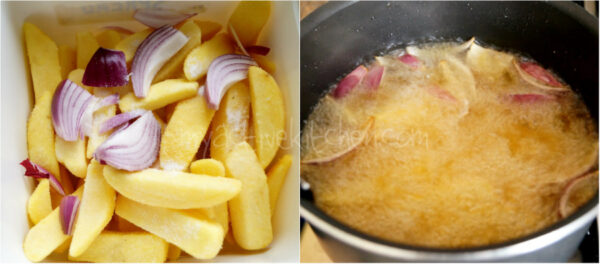 how to fry chips.