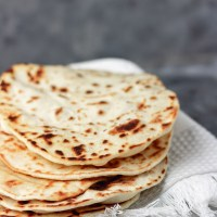 Homemade Shawarma Bread (Flour Tortilla)