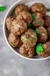 juicy baked meatballs