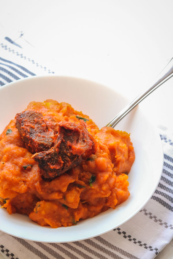 asaro food. it is also known as yam porridge.