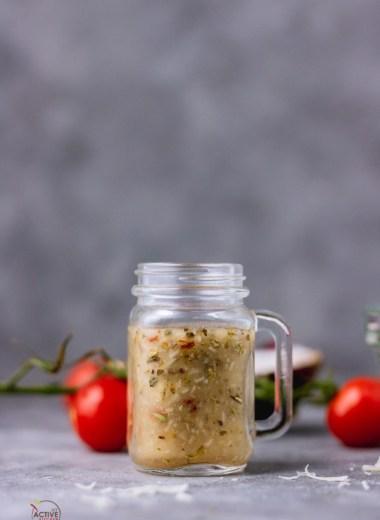 italian dressing in a jar.