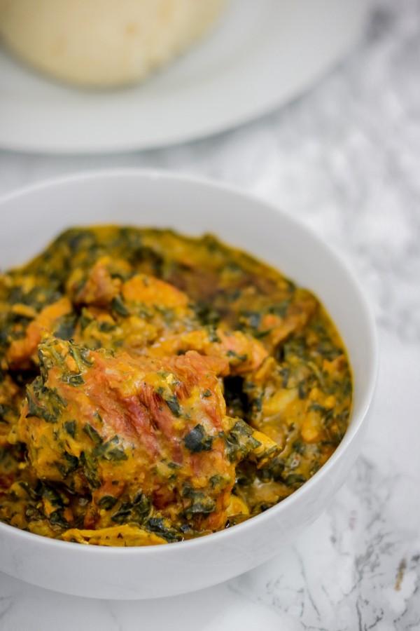 (ofe onugbu) bitter leaf soup with smoked turkey