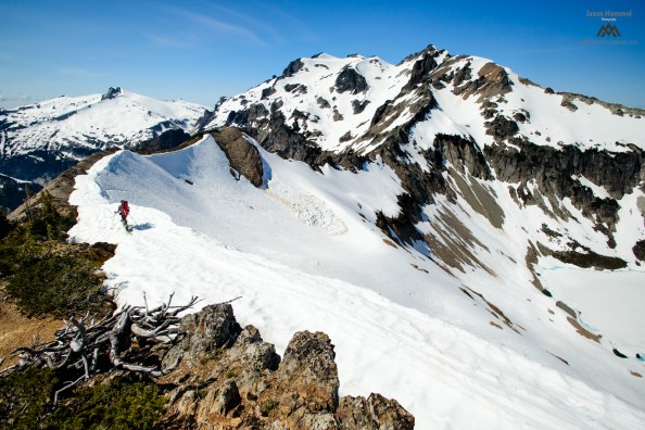 Looking for the couloir.