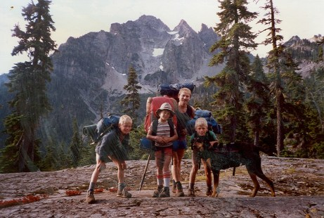Hiking the PCT from Snoqualmie to Stevens Pass as a kid.