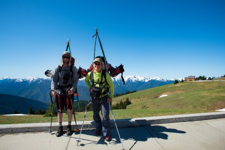Tim and I at Hurricane Ridge