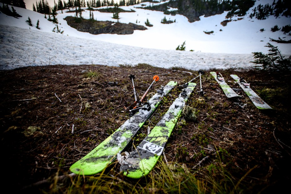 Even the skis were done for the day...and lay right where they came to rest
