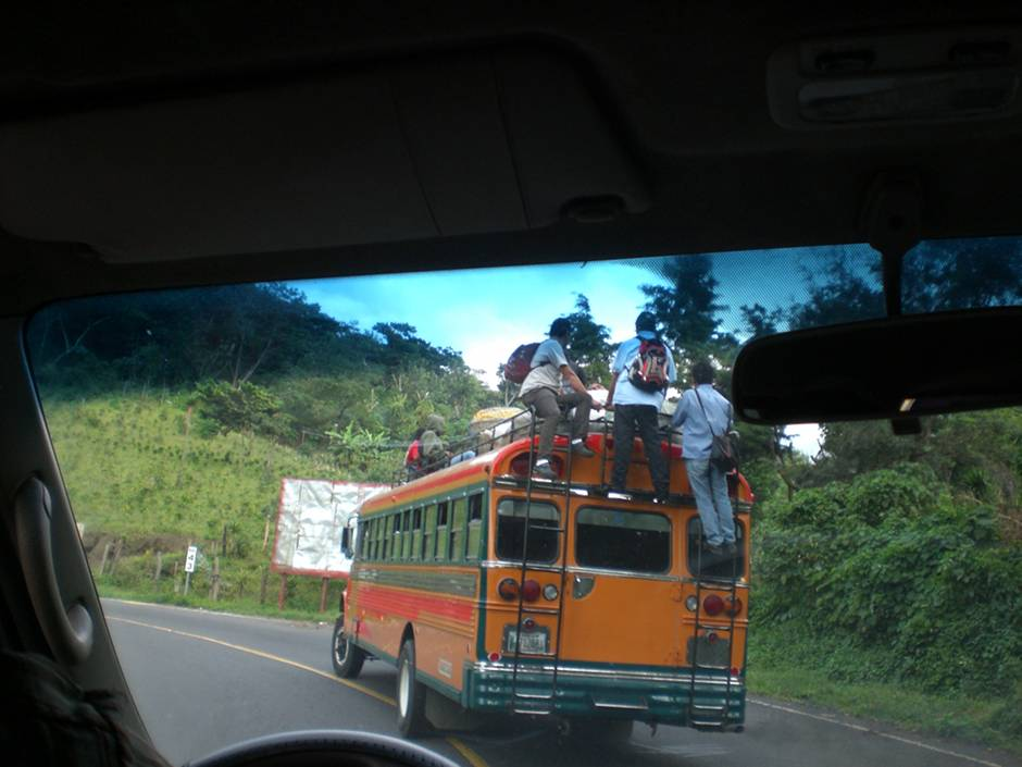 Guatemala, chicken bus