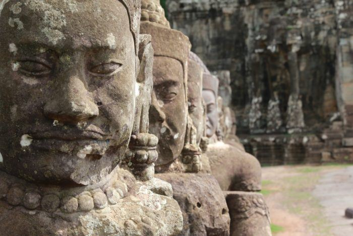 The incredibly detailed Bayon temple