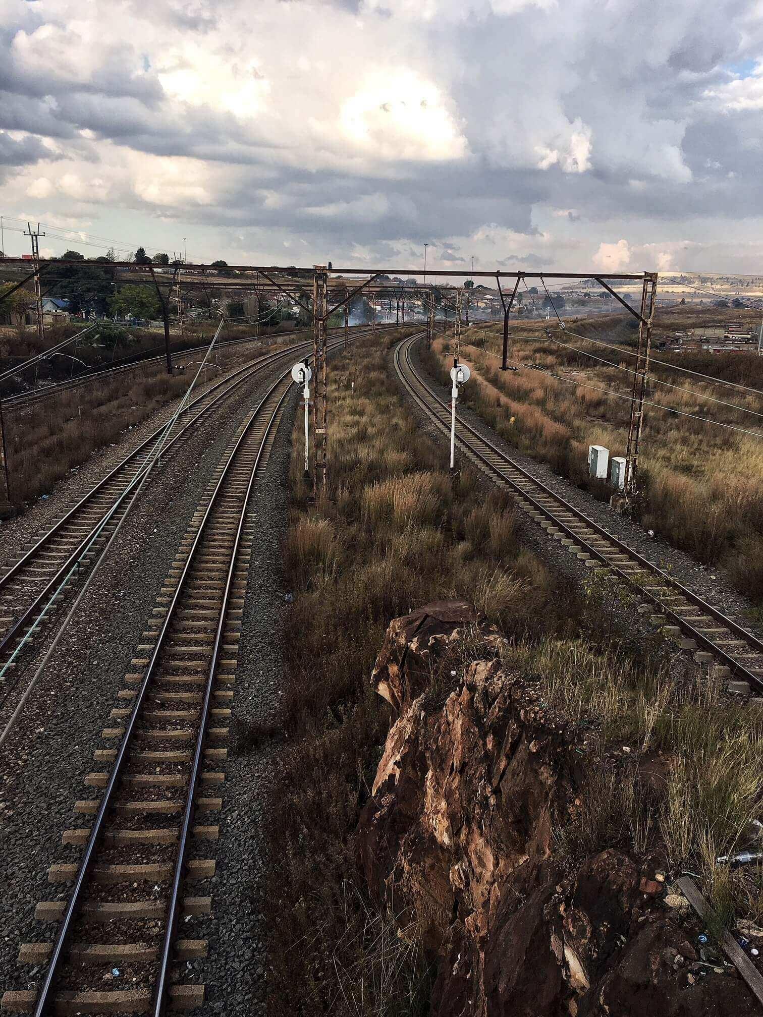 rails in Soweto