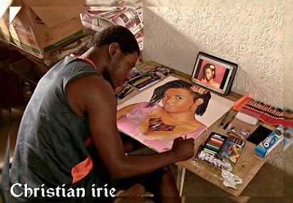 Côte d'Ivoire/ L'artiste Christian Irié: mordu du dessin, amoureux de la réalisation des portraits