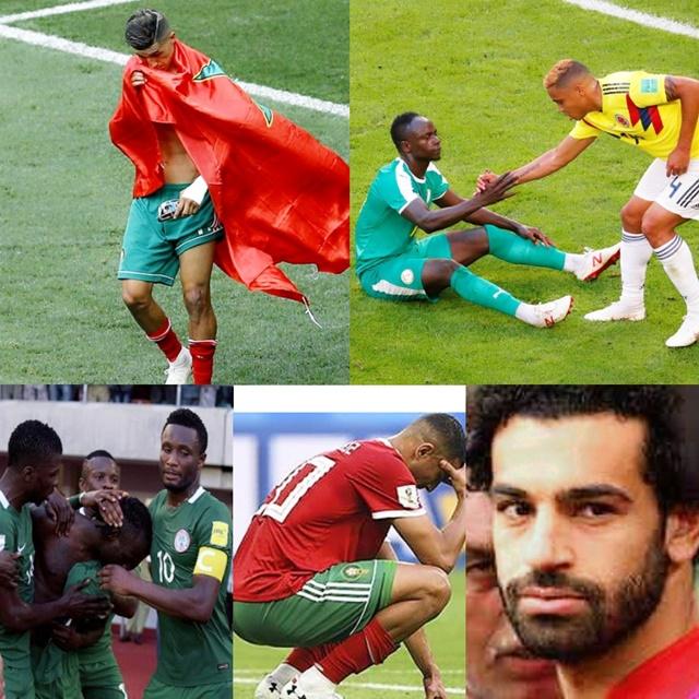 L'Afrique quitte la coupe du monde.