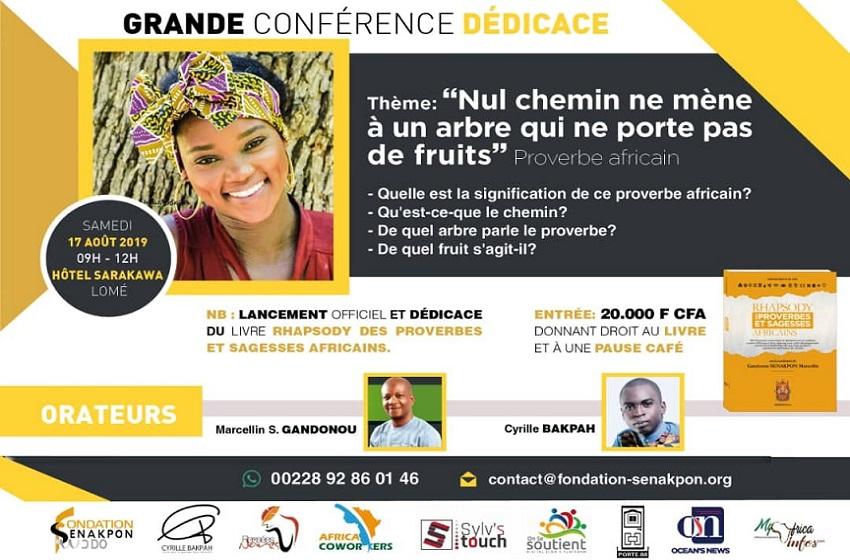 """Afrique/ Fondation SENAKPON : le """"RHAPSODY des Proverbes et Sagesses Africains"""" se déplace vers vous !"""