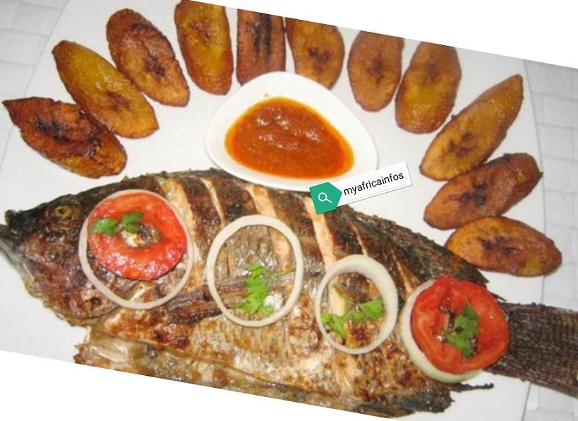 Cuisine Africaine/ Tilapia grillé avec alloco
