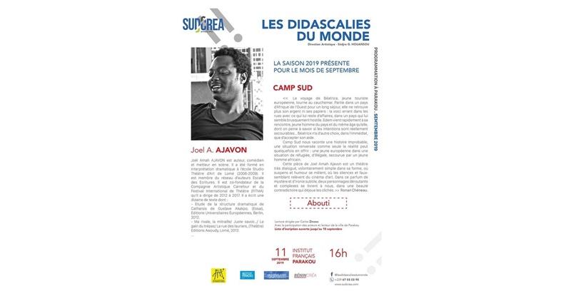 """AFRIK-LITT/ Les didascalies du Monde présentent """"Campus Sud"""" de Joel Amah Ajavon"""