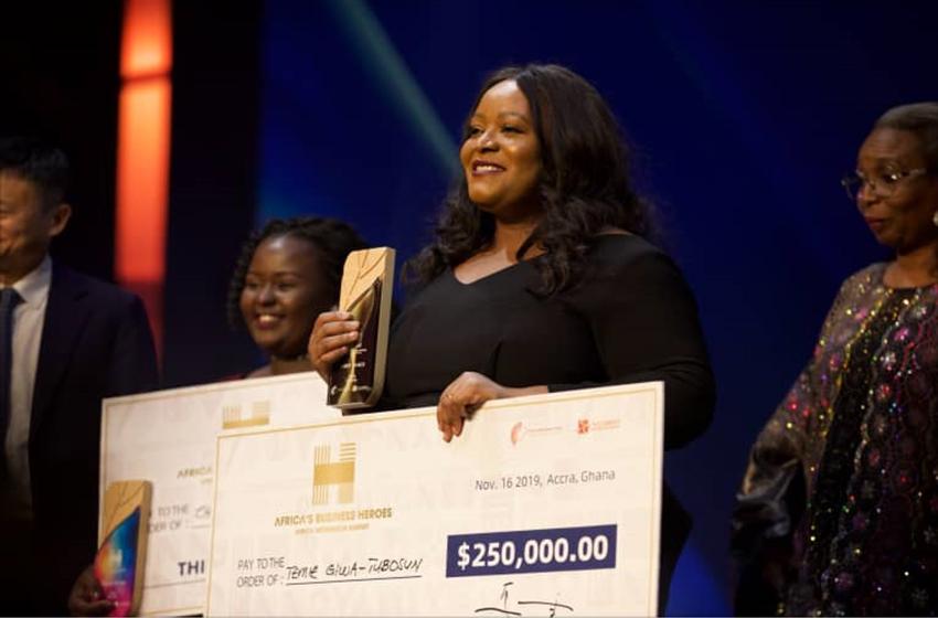 Temie Giwa-Tubosun, la nigérianne qui décroche 250.000 $ US de la Fondation Jack Ma, pour distribuer du sang, de l'oxygène…