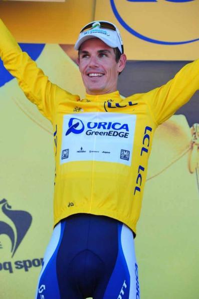 Daryl Impey 2e Africain a endossé le maillot jaune sur le Tour de France