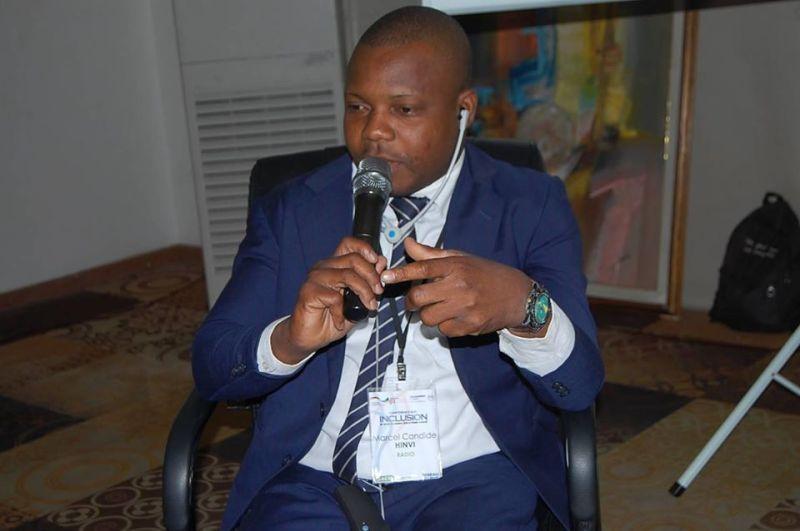 Marcel Candide Hinvy, Journaliste, Acteur de et Défensuer des Droits des Personnes en situation de Handicap
