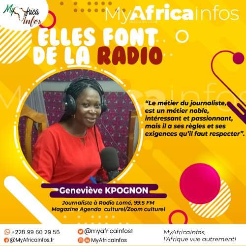 Geneviève Kpognon, une des plus belles voix sur la station du plaisir à Lomé