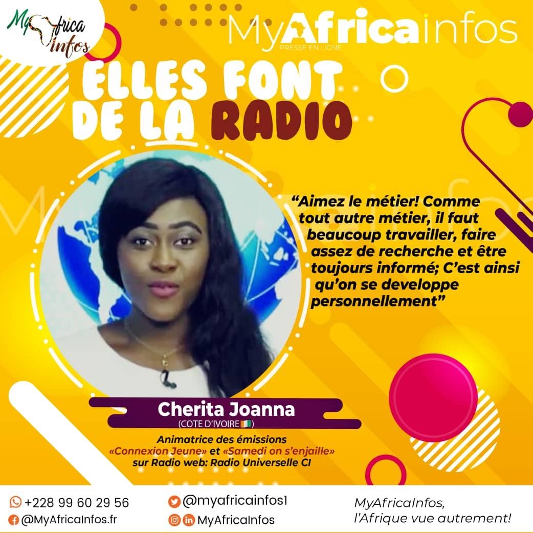 Elles Font de la Radio/Côte d'Ivoire: Cherita Joanna, d'auditeur de gestion à l'animatrice radio/télé