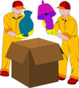 movers packing safely
