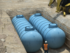 two oil tanks
