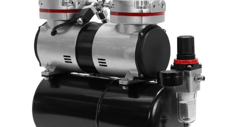 Review: PointZero Airbrush Air Compressor Twin Piston w/Tank 1/3 HP