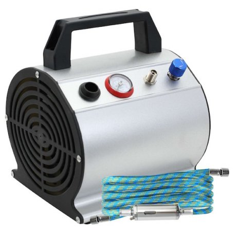 PointZero Low Noise Oil-Less Airbrush Air Compressor with 6 ft. Hose 1:6 HP review