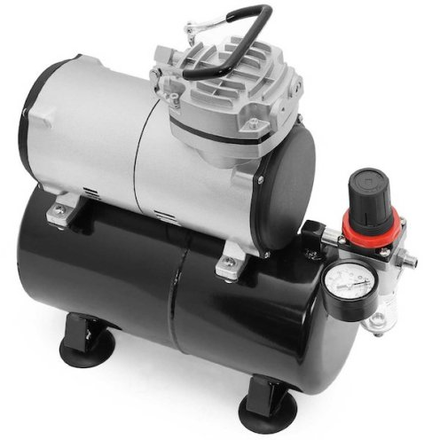 PointZero Portable Airbrush Air Compressor Oil-less 3L Tank 1:5 HP review