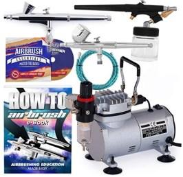 PointZero dual action airbrush compressor