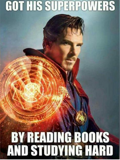 Read books and study hard