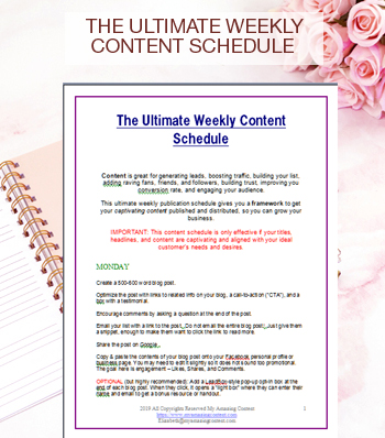 The Ultimate Weekly Content Schedule