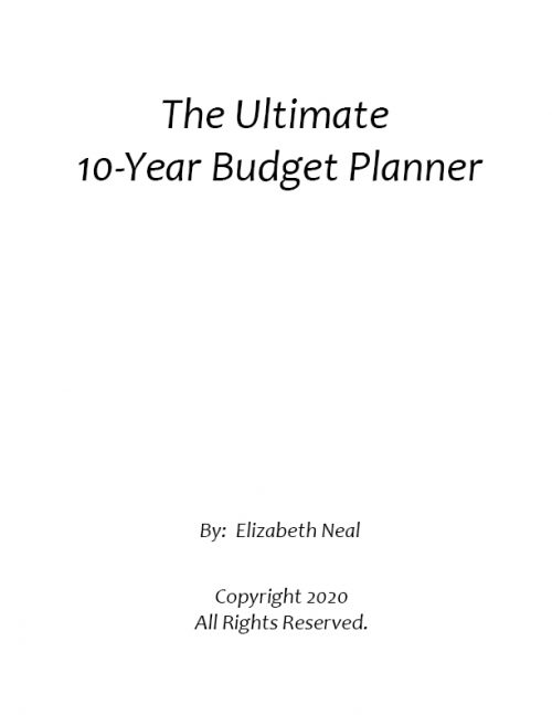 Ultimate 10-Year Budget Planner