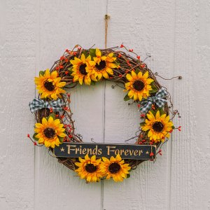 "14"" Sunflower Country Kitchen Wreath"