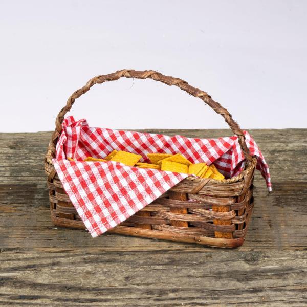 Cracker Basket with Handle Brown