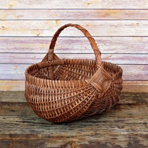 Large Regular Egg Basket Brown